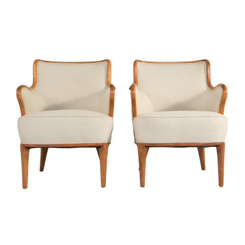 #116 Pair of  Leather Chairs by Borge Mogensen