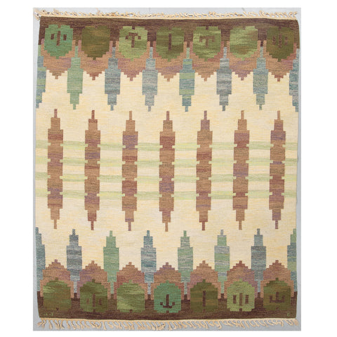 #1192 Vintage Swedish Flat weave Rug by JUDITH JOHANSSON