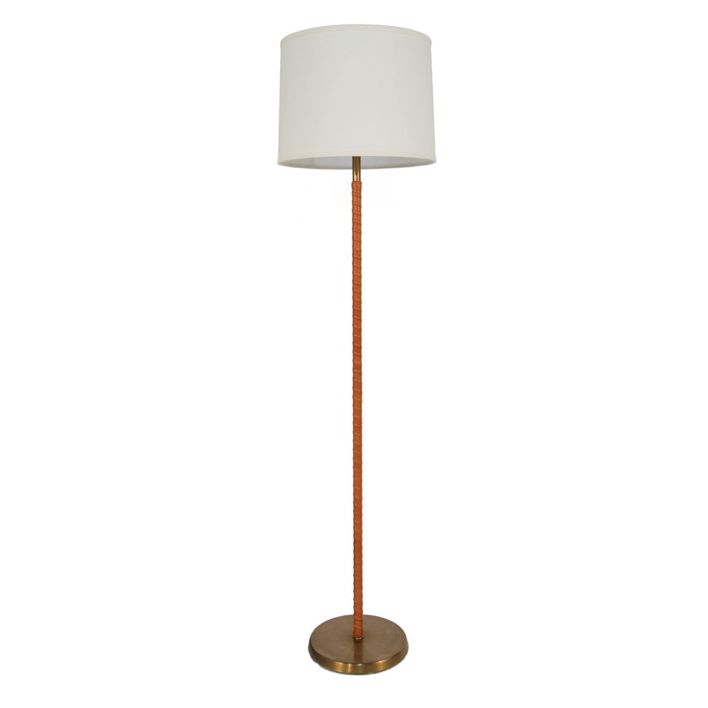 123 brass and leather floor lamp liefalmont 123 brass and leather floor lamp aloadofball Images