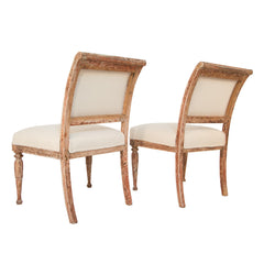 #130 Pair of Gustavian Large Chairs