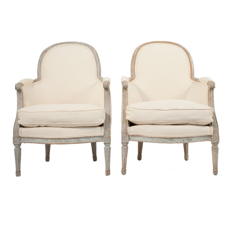 #152 Pair of Gustavian Bergeres