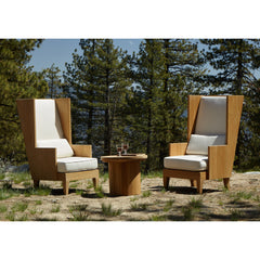 #3002 Storm - Outdoor Wingback Chair in Teak