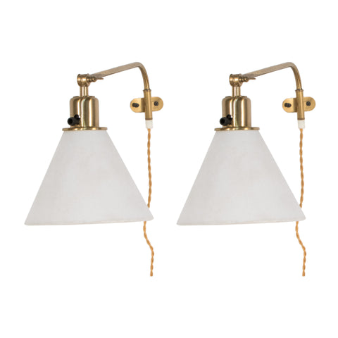 #1 Pair of Wall Sconces in Brass by Josef Frank