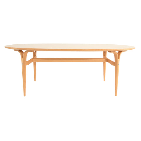 #202 Coffee Table with Burlwood Top by Bruno Mathsson