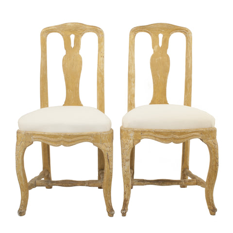 Pair of Rococo Sidechairs