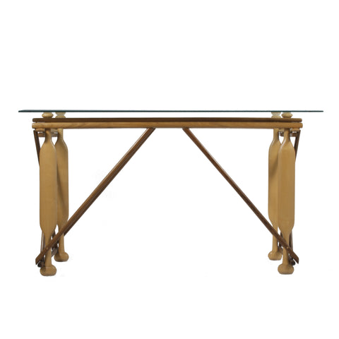 #268 Rosewood and Fruitwood Console Table