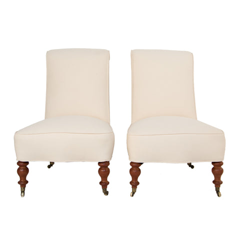 #272 Pair of Lounge Chairs in Canvas