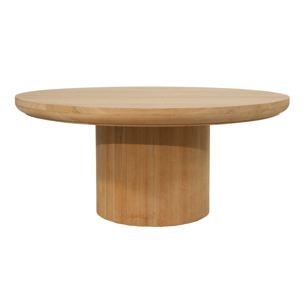 Low Round Teak Coffee Table: Round Outdoor Coffee Table In Teak