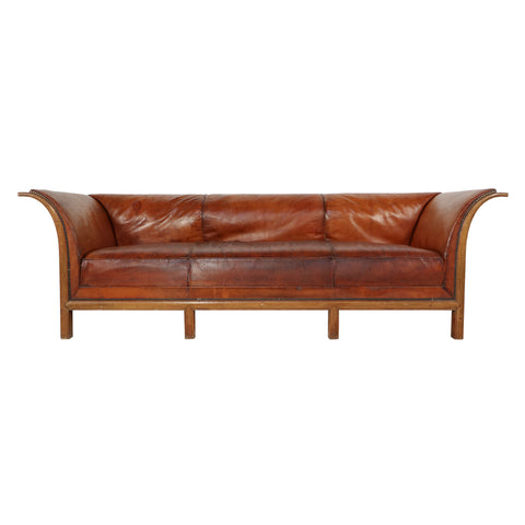 #318 Sofa in Leather by Frits Henningsen