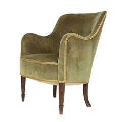 #320 Lounge Chair in Velvet by Carl Malmsten