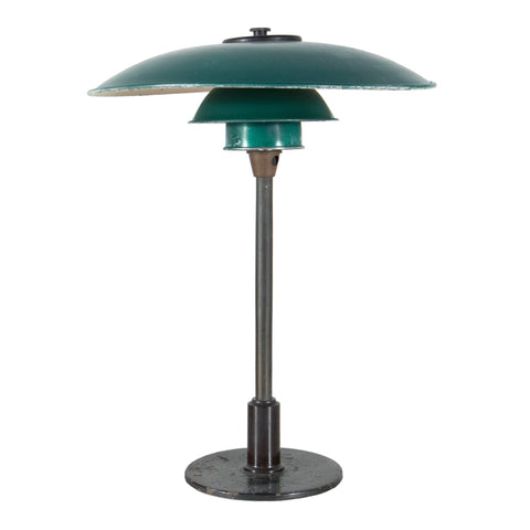 #406 Table Lamp with Green Shades by Poul Henningsen