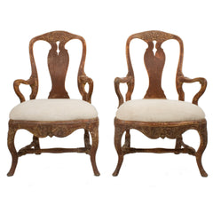 #412 Pair of Rococo Armchairs