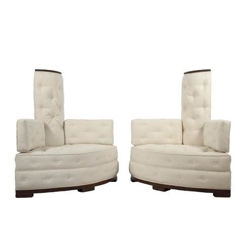 #473, #475 Pair of Swedish Grace Corner Chairs