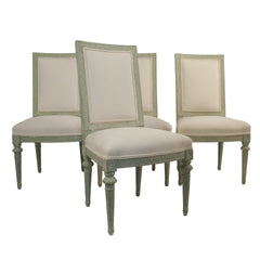 #478 Gustavian Style Dining Chairs