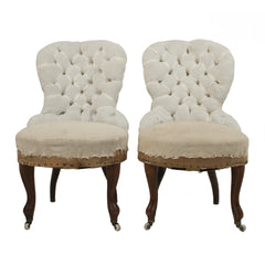 #52 Pair of tufted Emma Chairs