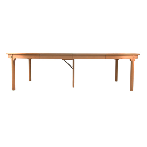 #532 Dining Table with three Leaves by Borge Mogensen