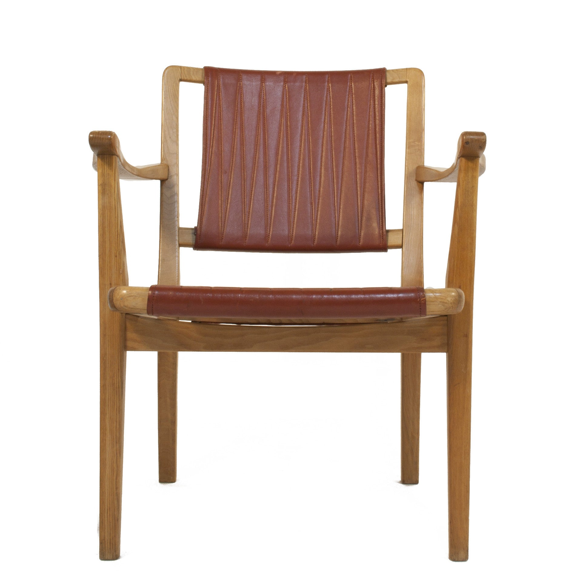 #592 Leather Armchair by Axel Larsson