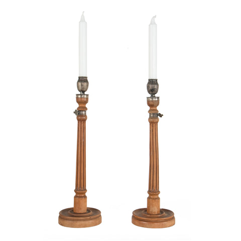 #601 Pair of Gustavian Candle Holders
