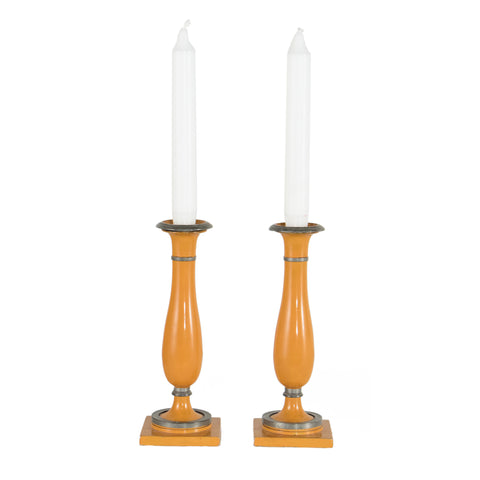 #607 Pair of Biedermeier Candle Holders,