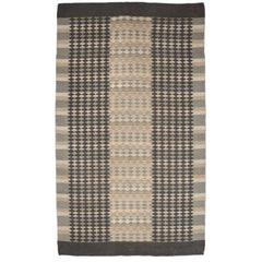 #616 Vintage Swedish Double Sided Flat Weave Rug