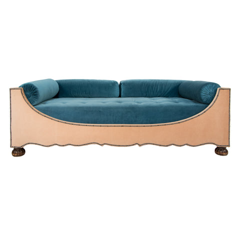 #628 Sofa in Velvet by Otto Schulz