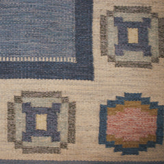 #631 Vintage Swedish Flat Weave Rug by Ingegerd Silow