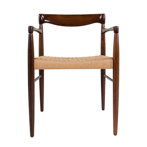 #665 Pair of Leather Lounge Chairs in Rosewood by Ole Wanscher