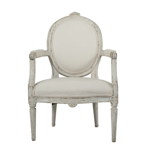 #674 Signed Gustavian Lounge Chair by Johan Lindgren
