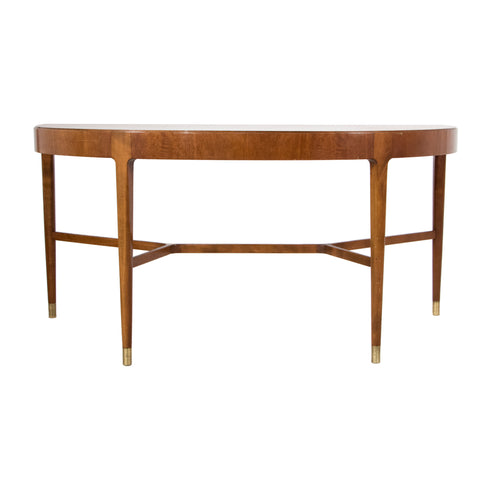 #68 Swedish Demi Lune Table in Walnut
