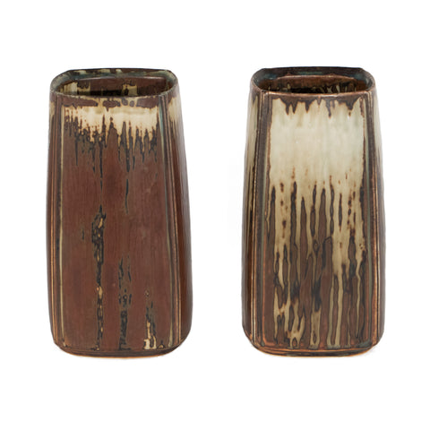 #695 Two Stoneware Vases by Ian Weiss