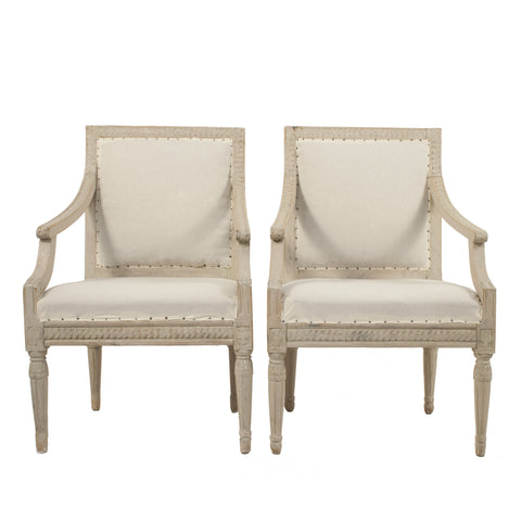 #6 Pair of Gustavian Armchairs
