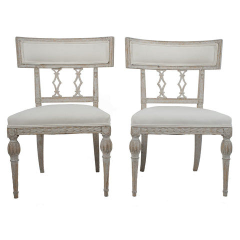 #7019 Pair of Gustavian Side Chairs by Ephraim Stahl