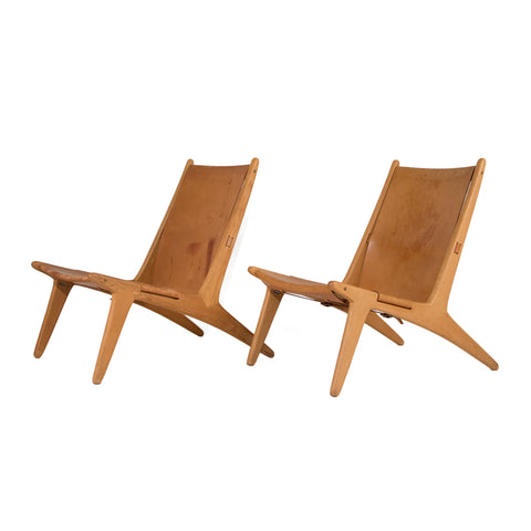 #77 Pair of Leather Chairs by Uno & Osten Kristiansson