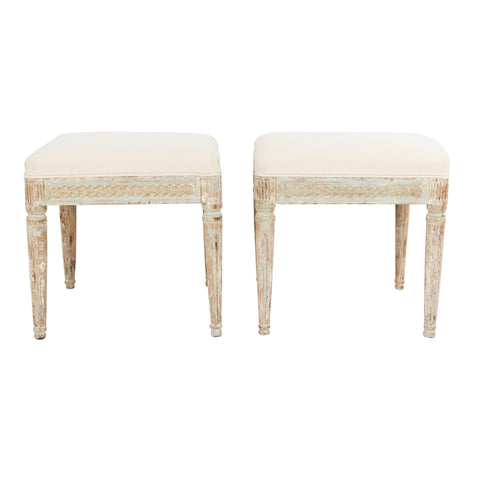 #794 pair of Gustavian Stools