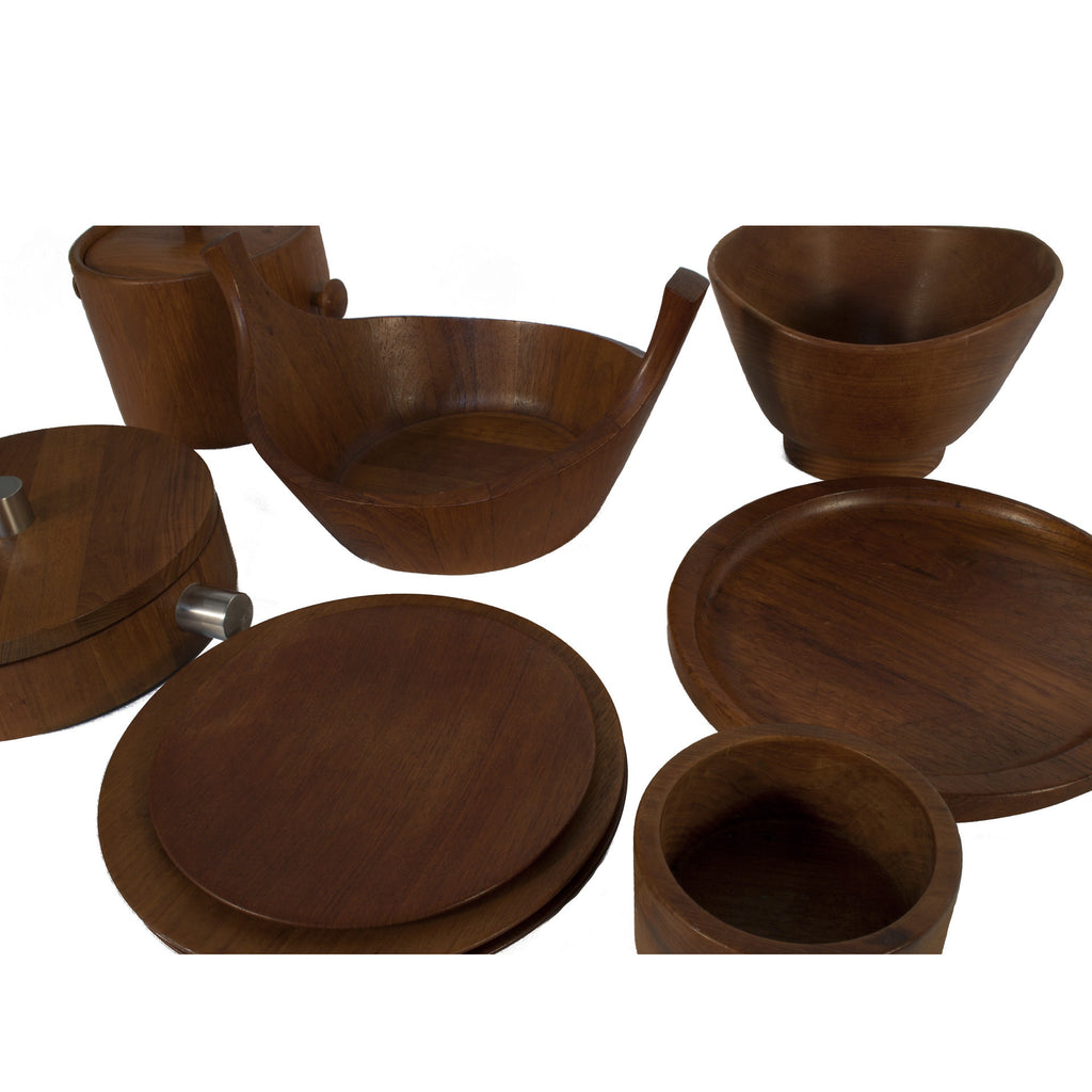 Charmant #807 Collection Of Teak Dining Serving Set