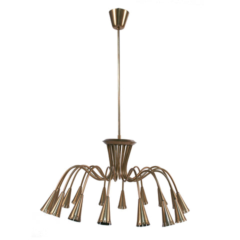 #824 Brass Chandelier