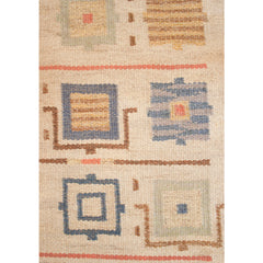 #85 Vintage Swedish Flat Weave Rug by Johanna Brunssons