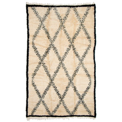 #879 Vintage Hand Woven Rug by the Beni Ourain Tribe