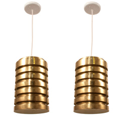 #87 Pair of Brass Light Fixtures by Hans Agne Jakobsson