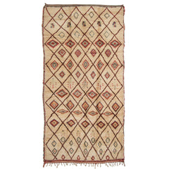 #893 Vintage Hand Woven Rug by the Beni Ourain Tribe
