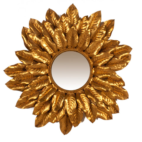 #914 Sun Mirror in Brass