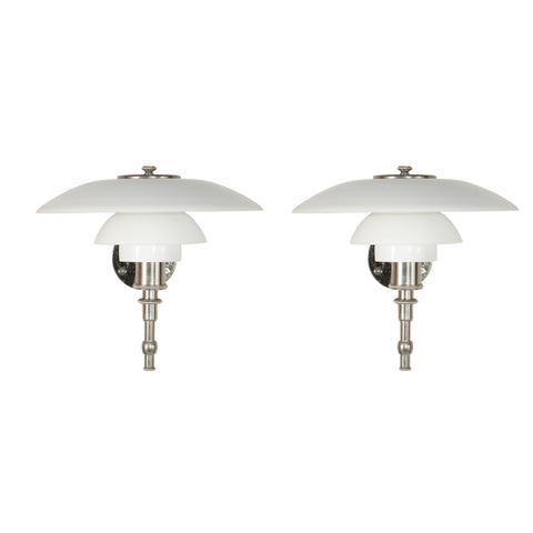 "#922 Pair of  Very Rare ""Akademi"" Sconces by Poul Henningsen"