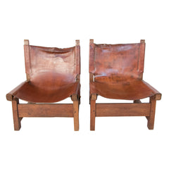 #945 Pair of Leather Chairs