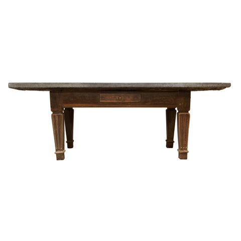 #973 Swedish Gustavian Stone Top Table