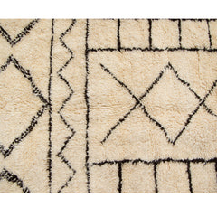 #990 Vintage Hand Woven Rug by the Beni Ourain Tribe
