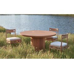 #3008 Berg - Round Outdoor Dining Table in Teak