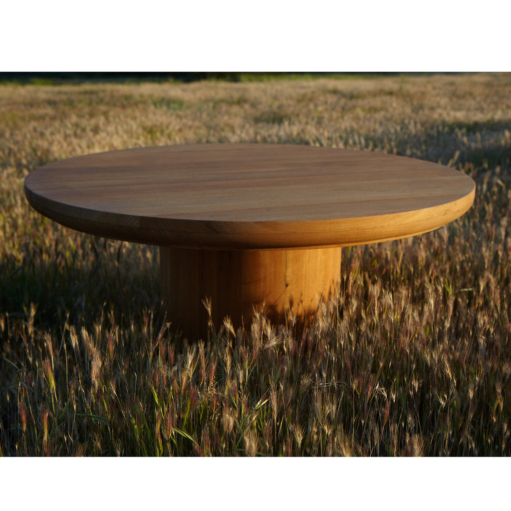 Round Outdoor Coffee Table In Teak