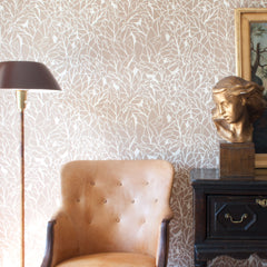 Collective - Hand printed Wallpaper, Brown