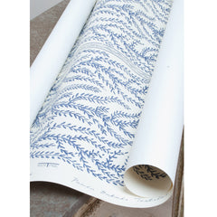 Aphrodite - Hand printed Wallpaper, Blue