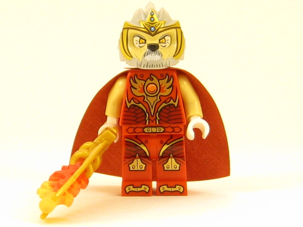 LEGO Legends of Chima Lagravis Minifigure with Fire Weapon Lion Tribe